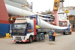 Collett & Sons Ltd transported a turbine for the Muirhall 2 Wind Farm. The first of many projects to come through the new Grangemouth facility