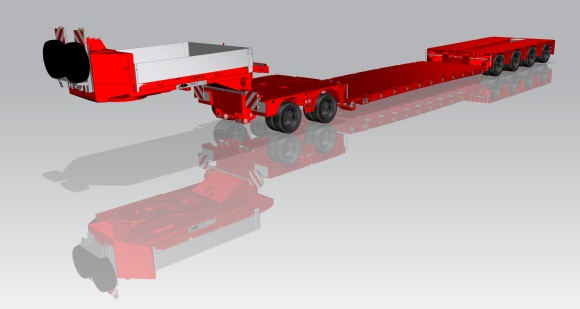 CAD Drawing of Panther Low-Loader