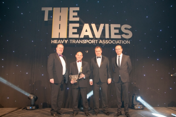 L-R Howard Cox, David Collett, Will Shiers (Commercial Motor) and Quentin Willson
