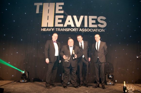 L-R Howard Cox, Nigel Thornton, Mike Corcoran (Volvo Trucks) and Quentin Willson