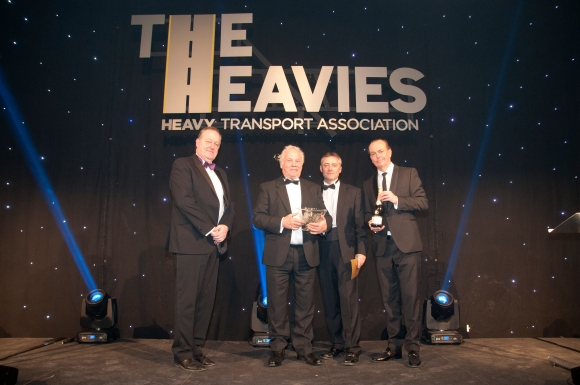 L-R Howard Cox, Rob Kingswell, Lee Tipton (King Trailers) and Quentin Willson