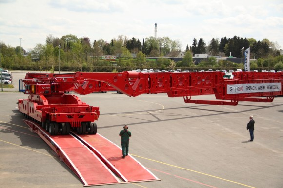 600 Tonne Goldhofer Girder Bridge